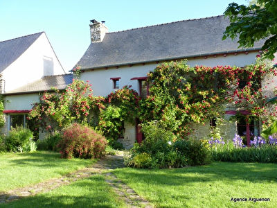 Between Dinan and Yvignac-la-tour: Charming Longère independent of 238m², large private grounds