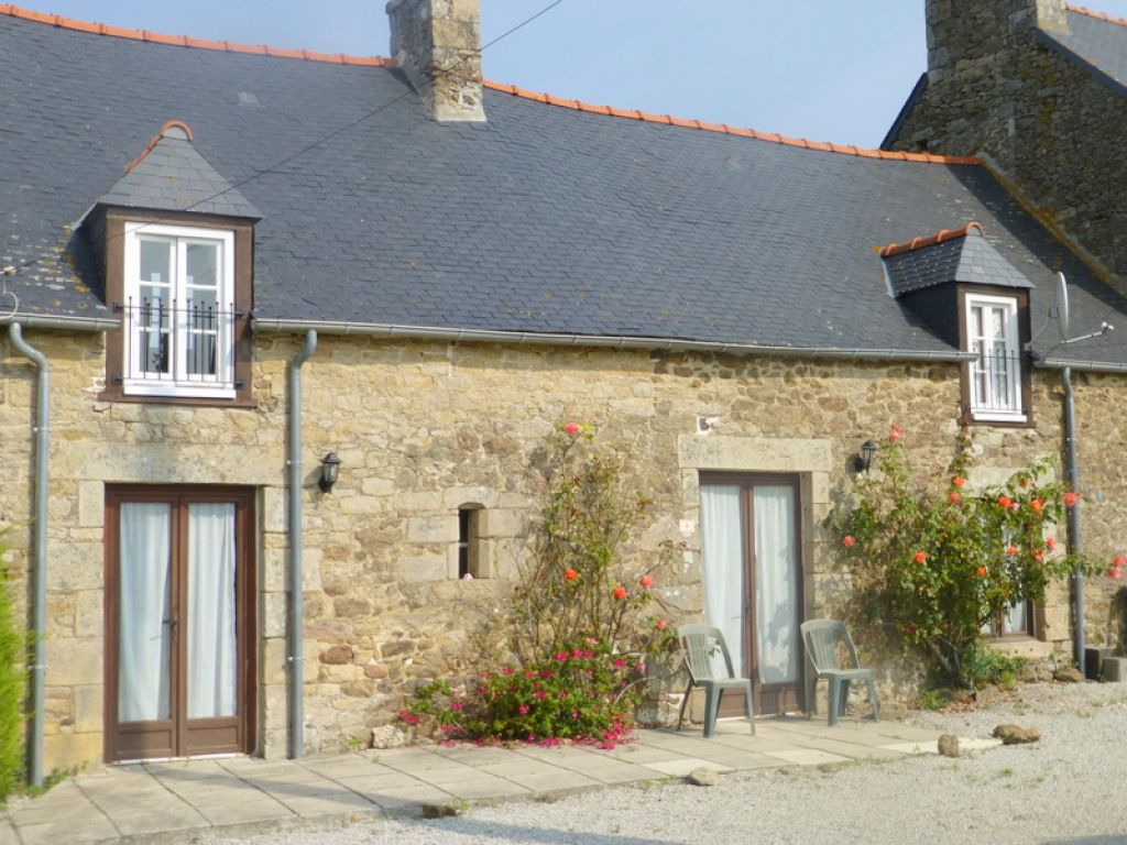 Stone cottage in pretty village near the coast