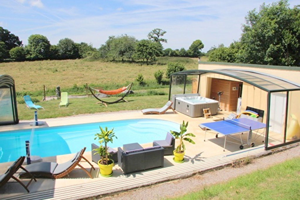 Up & Runningite gite activity in rolling countryside with large gite, yurt, swimming pool, sauna, jacuzzi & scope for more!