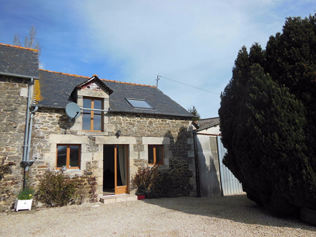 Pretty stone cottage & building land -  edge of a village close to the River Arguenon