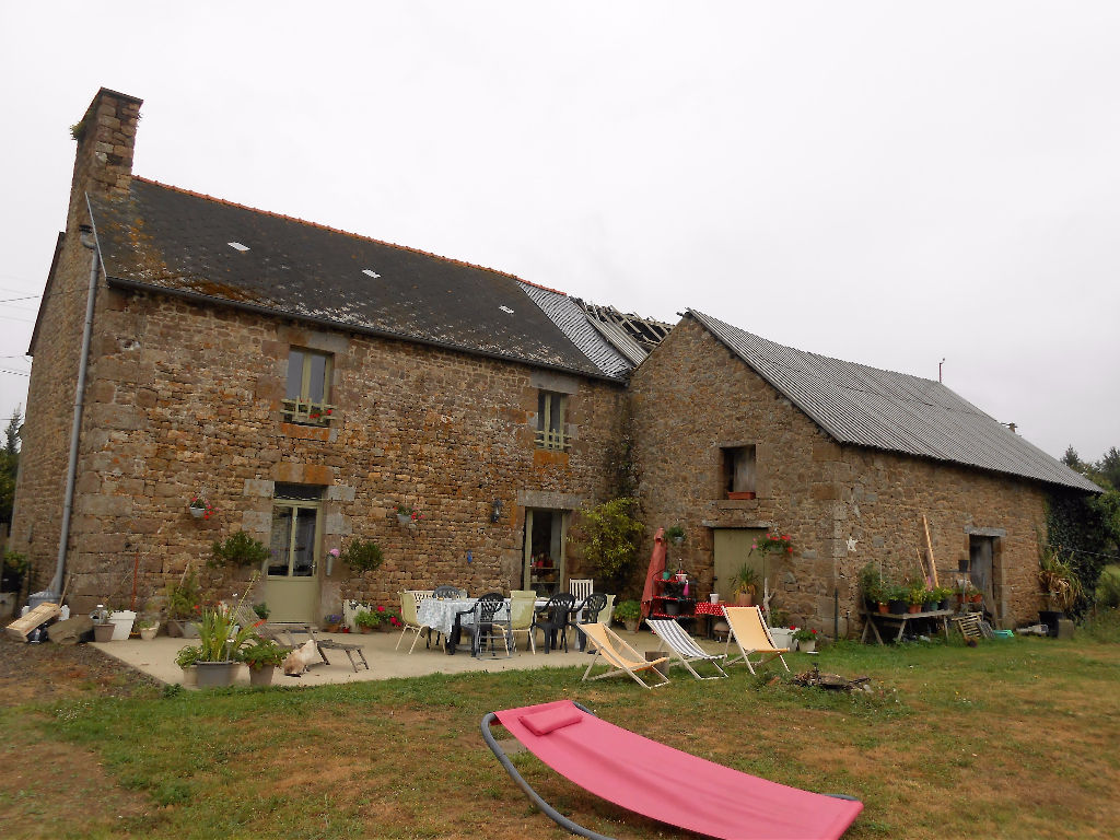 Stone farmhouse and outbuildings in the Bay of Mont st Michel